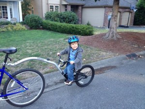 Here's Lucas on the bike extension